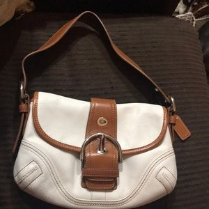 Coach white and brown like new perfect condition